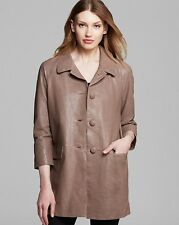 NEW $1298 Kate Spade New York Brown Leather Jacket Bow Back Coat Size 6