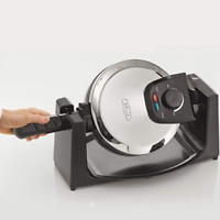 Classic Rotating Belgian Waffle Maker Non-Stick Polished Stainless Steel