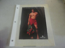 1995 'Structure' Valentines Red Silk Boxers Advertment Card