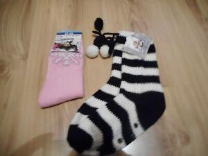 Haus-Socken Thermo Socken Gestreift