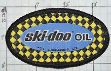 SKI-DOO OIL SNOWMOBILE VINTAGE WOVEN PATCH