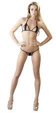 Bikini erotico MINIMALE Sexy con reggiseno e perizoma Elasticizzato Taglia Unica