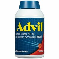 Advil Pain Reliever / Fever Reducer Coated Tablet, 300 Count, Ibuprofen 200mg,