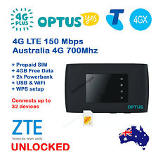 FACTORY UNLOCKED ZTE MF920V 4G LTE WiFi Modem Router Optus Telstra 4GX alt MF910