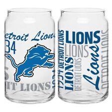 (1)Detroit Lions NFL Fan Spirit Grafitti Drinking Glass Can