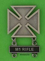 Army Marksman Marksmanship Badge with M1 RIFLE Qualification Attachment Bar M-1