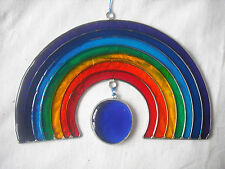 NEW STAINED GLASS RAINBOW HANGING SUN CATCHER DECORATION 2615