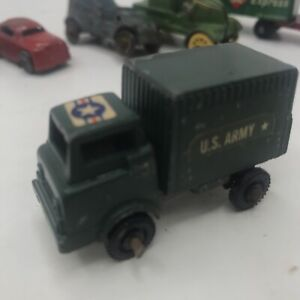 "VINTAGE 1940s BARCLAY MINI SLUSH METAL US ARMY GREEN DELIVERY TRUCK USA HO 2"""