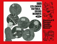 OEM Repair Maintenance Shop Manual Ford Evtm Crown Victoria/Grand Marquis 1989