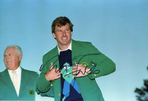 Nick Faldo, Masters 1990 Augusta, Ryder Cup legend, signed 12x8 inch photo. COA.
