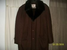 Vintage Field Stream Gordon & Ferguson Wool Tweed Faux Fur Lined Jacket Size 40