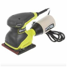 Ryobi 1/4 Sheet Sandpaper Sander Electric Finishing Sanding Hand Palm Power Tool