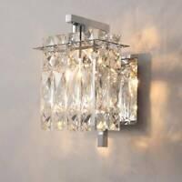 Modern Crystal Wall Lights Sconce Aisle Bedside light Wall lamp with LED Bulb UK