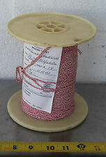 Gudebrod Buttwind Custom Fishing Rod Winding Wrap Red & White Entire Spool #14