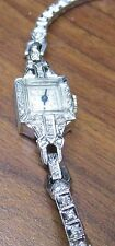 Vintage Authentic Omega Woman's 14k WG Diamond Watch 13.6 grams