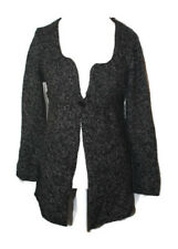 Max Studio Black Wool Blend One Button Closure Cardigan Sweater Size Large