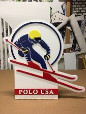 vintage Polo Ralph Lauren USA 1992 92 Ski Snow Beach Hi Tech Sign Logo Display
