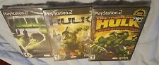 1.Hulk 2.Incredible Hulk 3.Incredible Hulk ULTIMATE DESTRUCTION.*3 NEW GAMES PS2