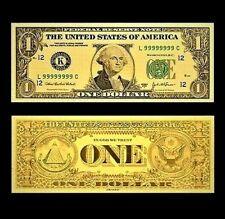 $1 Gold Foiled Novelty Federal Reserve Note