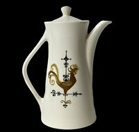"""Vtg Knowles Oven Proof USA MCM Weather Vane Rooster Motif Coffee Pot K-5240 9.5"""""""