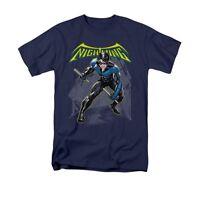 Batman Nightwing Licensed Adult Men's Graphic Tee Shirt SM-3XL