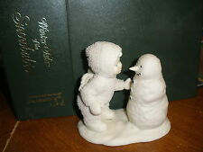 """Dept. 56 Snowbabies """"WHY DON'T YOU TALK TO ME"""" Retired in Box # 6801-2"""