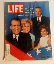 Vintage Life Magazine August 16,1968 Cover: Nixons & Agnews Election