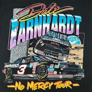 "Vintage Mens L 1993 Dale Eearhardt Nascar ""No Mercy Tour"" Sports Image Tee Shirt"