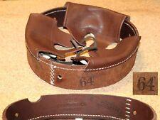 Coiffe intérieure cuir couleur brun casque Allemand M16 WWI taille 64.