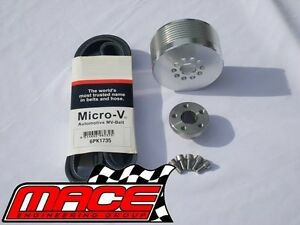 9PSI - 11PSI BOOST PULLEY UPGRADE KIT WITH BELT FOR HOLDEN L67 S/C 3.8L V6