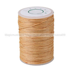 Beige 0.6mm Linen Waxed Wax Thread Cord Sewing Craft for Leather Caft Stitching
