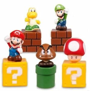 5pcs Super Mario Bros Action Figure Mini Figurines Cake topper doll Toy Gift
