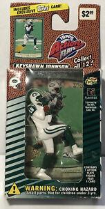 NIB 1999 KEYSHAWN JOHNSON JETS Topps Action Flats NFL Figure with Card