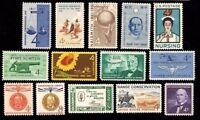 1961 Year Set of 14 Commemorative Stamps Mint NH - Stuart Katz