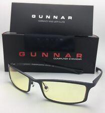 New GUNNAR Computer Glasses PHENOM 55-18 134 Graphite Frame w/ Amber Yellow Lens