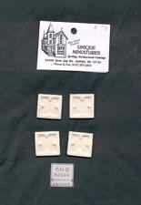 Applique - Celtic Block  4pcs -  UMA1  polyresin 1/12 scale dollhouse miniature
