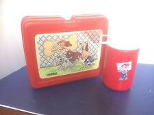 Thermos 1986 Pound Puppies Red Lunchbox w/ Thermos 1986
