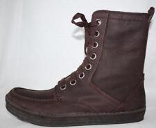 Calvin Klein Sean Dark Brown oil tumbled leather casual mid 8 eye boots men 11