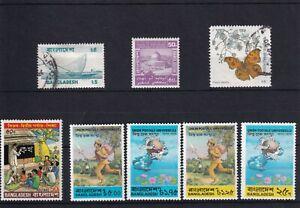 Bangladesh stamps UPU 1974 and 4 others