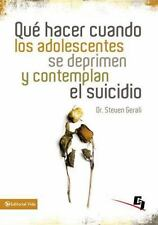 Qu hacer cuando los adolescentes se deprimen y contemplan el suicidio Especiali