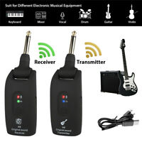Rechargeable 2.4GHz UHF Wireless Guitar System Transmitter & Receiver 20-20KHz^,