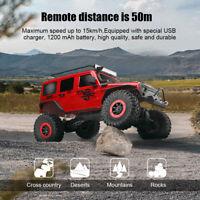 1/10 2.4G RC Voiture 4 × 4 Double Pont Électrique 15 km / h Crawler