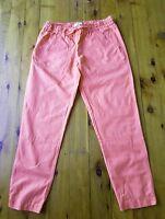 COUNTRY ROAD Coral/Orange Linen Blend Pants Size 8