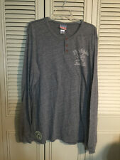 Philadelphia Eagles Gray Long Sleeve Henley Shirt  Junk Food Size XXL 3 Button