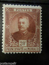 MONACO 1923/24, timbre 67, PRINCE LOUIS II, neuf**, MNH STAMP, CELEBRITY