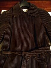 CORDUROY PIN STRIPE BROWN COAT COUNT ROMI LTD SIZE 8 LINED MADE IN USA
