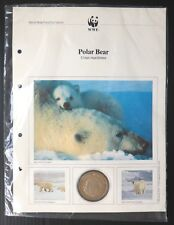 WWF Polar Bear Medallion Coin Special Page in Folder