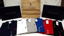 POLO RALPH LAUREN MENS GENUINE NEW CUSTOM FIT SHORT & LONG SLEEVE POLO SHIRTS