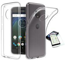 Silikoncase Transparent Tasche + H9 Panzerglas für Motorola Moto E4 Plus Hülle