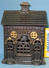 BIG PRICE CUT * 1905/20's DOUBLE DOOR CAST IRON TOY BANK BLD GUARANTEED ORIG 815